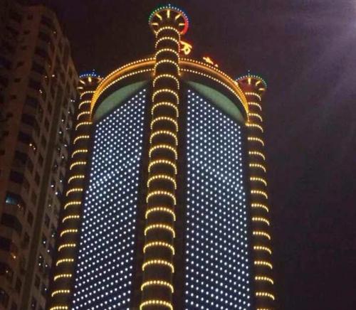 城市楼体亮化工程之无缝对接led线条灯
